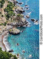 rocas, en, el, costa de amalfi
