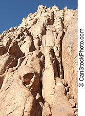 rocas, en, el, mañana