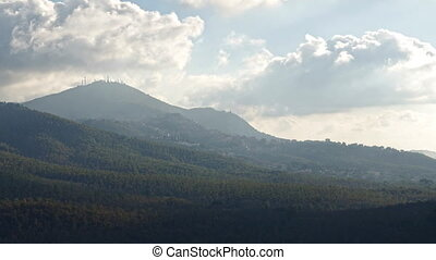 Rocca di Papa and Alban Hills Time Lapse