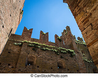 Rocca Viscontea in the town of Castell Arquato, Italy