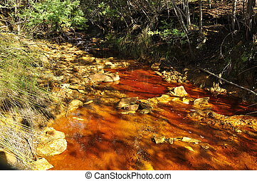 roccia, acido, drenaggio