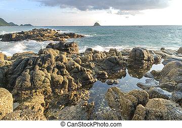 roccia acqua, naturale, forte, onda