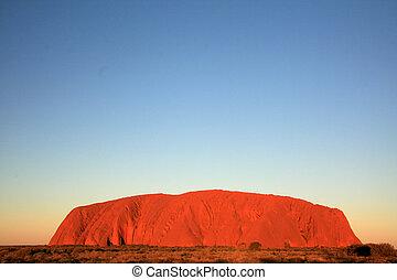 roccia, australia, ayres, uluru