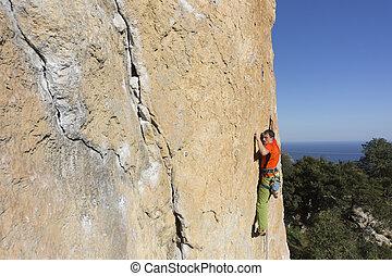 roccia, climber.