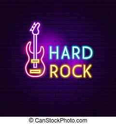 roccia, duro, segno neon