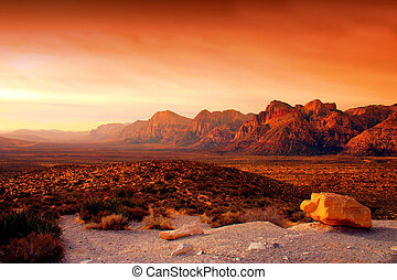 roccia, nevada, canyon rosso