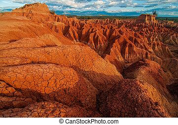 roccia rossa, formazioni, di, tatacoa