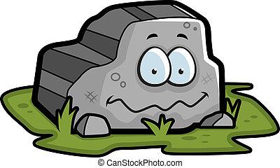 roccia, sorridente