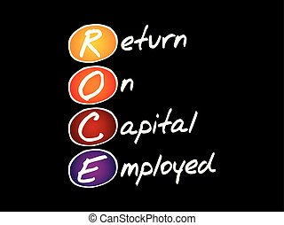 ROCE - Return On Capital Employed, acronym business concept