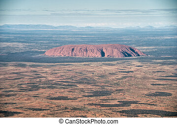 rocha, agosto, norte, ayers, território, uluru, austrália,...