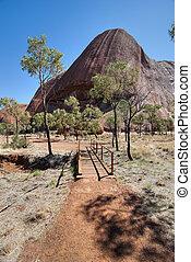 rocha, agosto, norte, ayers, território, uluru, austrália, 2009