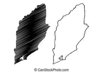 Rocha Department (Departments of Uruguay, Oriental Republic of Uruguay) map vector illustration, scribble sketch Rocha map