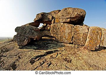 rocha, erosion., geológico, formações