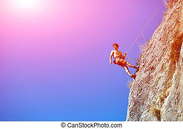 rocher, alpiniste mâle