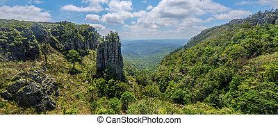 rocher, pinacle, mpumalanga, afrique, sud