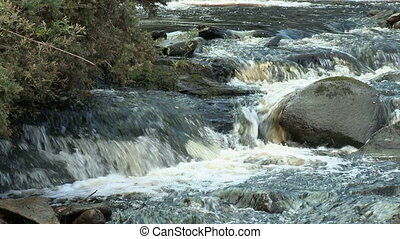 rochers, dépêcher, grand, eau, bas