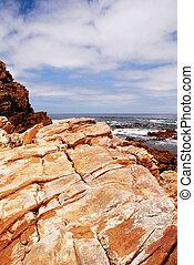 rochers, vue
