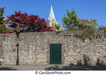 Rochester in Kent - A beautiful view of the spire of...