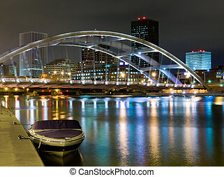 Rochester, New York - Rochester at night, New York State