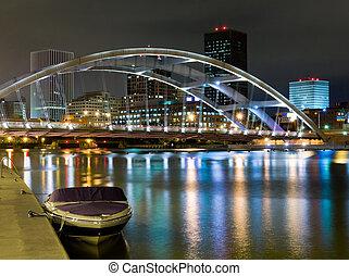 Rochester, New York - Rochester at night, New York State