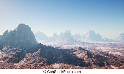 rocheux, déserter paysage
