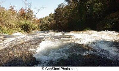 rocheux, ruisseau, thaïlande, mai, montagne, chiang, son