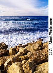 rochoso, litoral