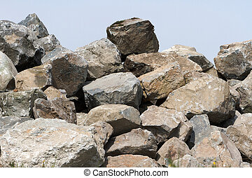 a pile of rock, Construction Material
