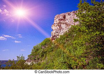 Rock above river in Bakota