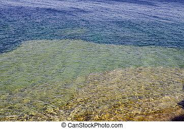 Georgian Bay - Rock and clear water at shore of Georgian Bay...