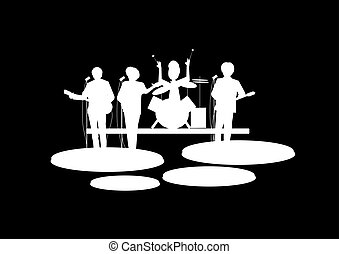 rock and roll band  - sixties band
