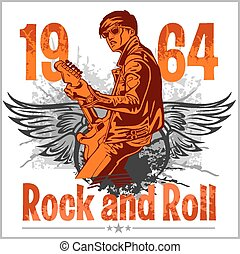 Rock and Roll Design - vector poster 1960s