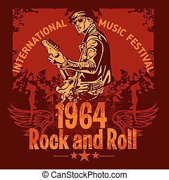 Rock and Roll Design - vector poster