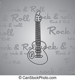 rock and roll guitar theme