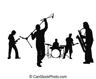 rock and roll - isolated music band (great for your design, ...
