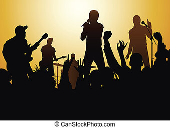 rock-and-roll live - rock concert with shine f/x, made from...