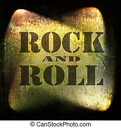 rock and roll music, old rusty wall background
