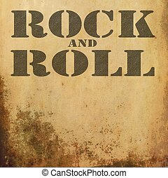 rock and roll music on old grunge