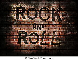 Rock and roll music word