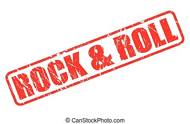 Rock and Roll red stamp text