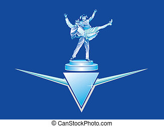 Rock and Roll Retro Trophy Vector