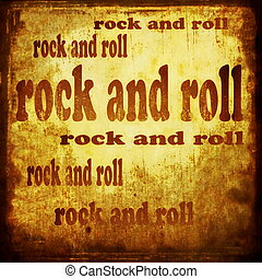 rock and roll word music background