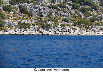 Rock and sea in Turkey