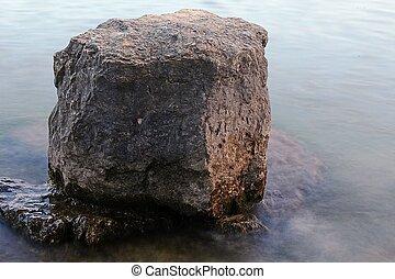 Rock At A Lake