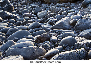 Rock background at the beach in Lanzarote