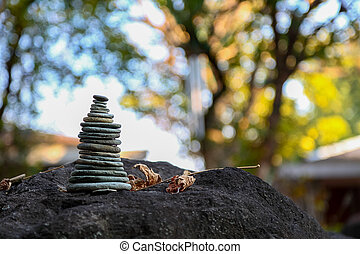 Rock Balance which symbolic to spiritual practice