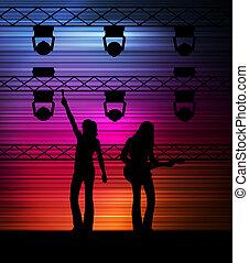 Rock band concert vector background