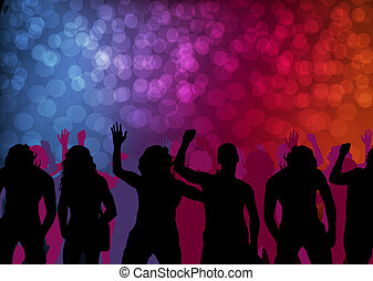 Rock band concert vector background with neon