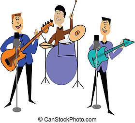 rock band - rock and roll band from a different era over...