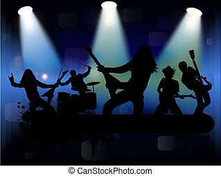 Rock band, vector illustration